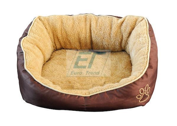 Hundekissen-Hundebett-Beige-Braun-52x50x18cm-Hund-Bett-Katze-Hundekorb-Hundesofa