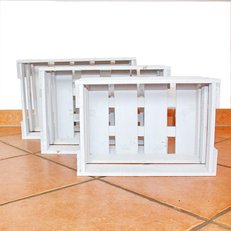 weinkisten wei 3er set weinregal regal kiste ebay. Black Bedroom Furniture Sets. Home Design Ideas