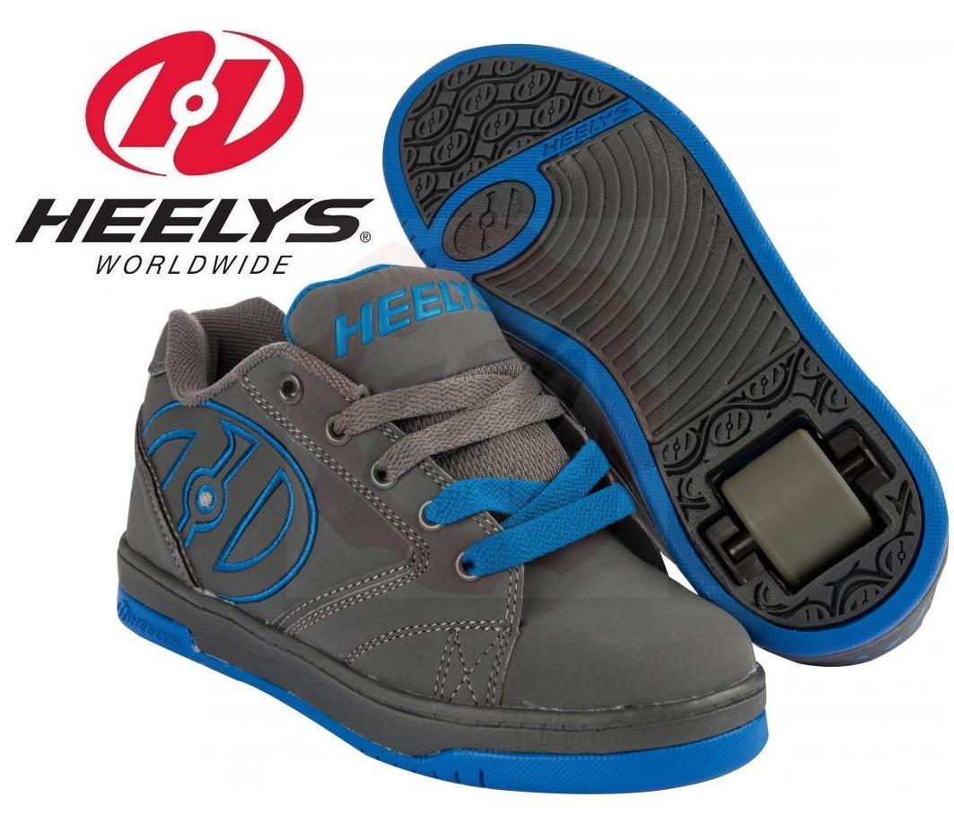heelys propel 2 0 grau blau mit rollen skateschuhe ebay. Black Bedroom Furniture Sets. Home Design Ideas