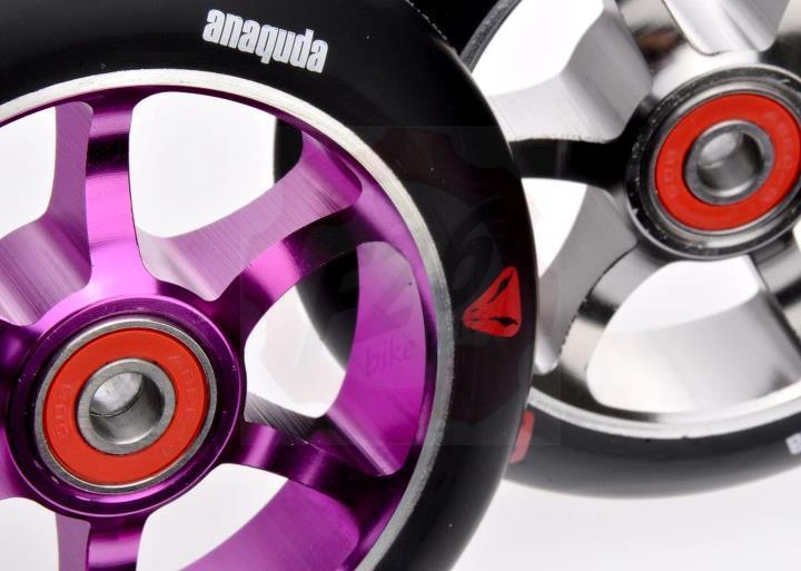 anaquda spoked stunt scooter trottinette freestyle trick roller wheel 110 rollen. Black Bedroom Furniture Sets. Home Design Ideas