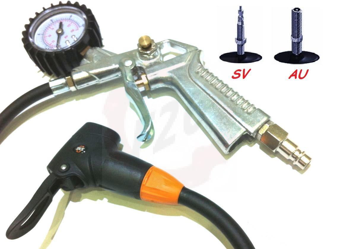 kompressor luftpistole sks auto ventil sv presta franz sisch mtb road druckluft ebay. Black Bedroom Furniture Sets. Home Design Ideas
