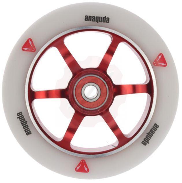 anaquda spoked stunt scooter trottinette freestyle trick roller wheel 110 rollen ebay. Black Bedroom Furniture Sets. Home Design Ideas
