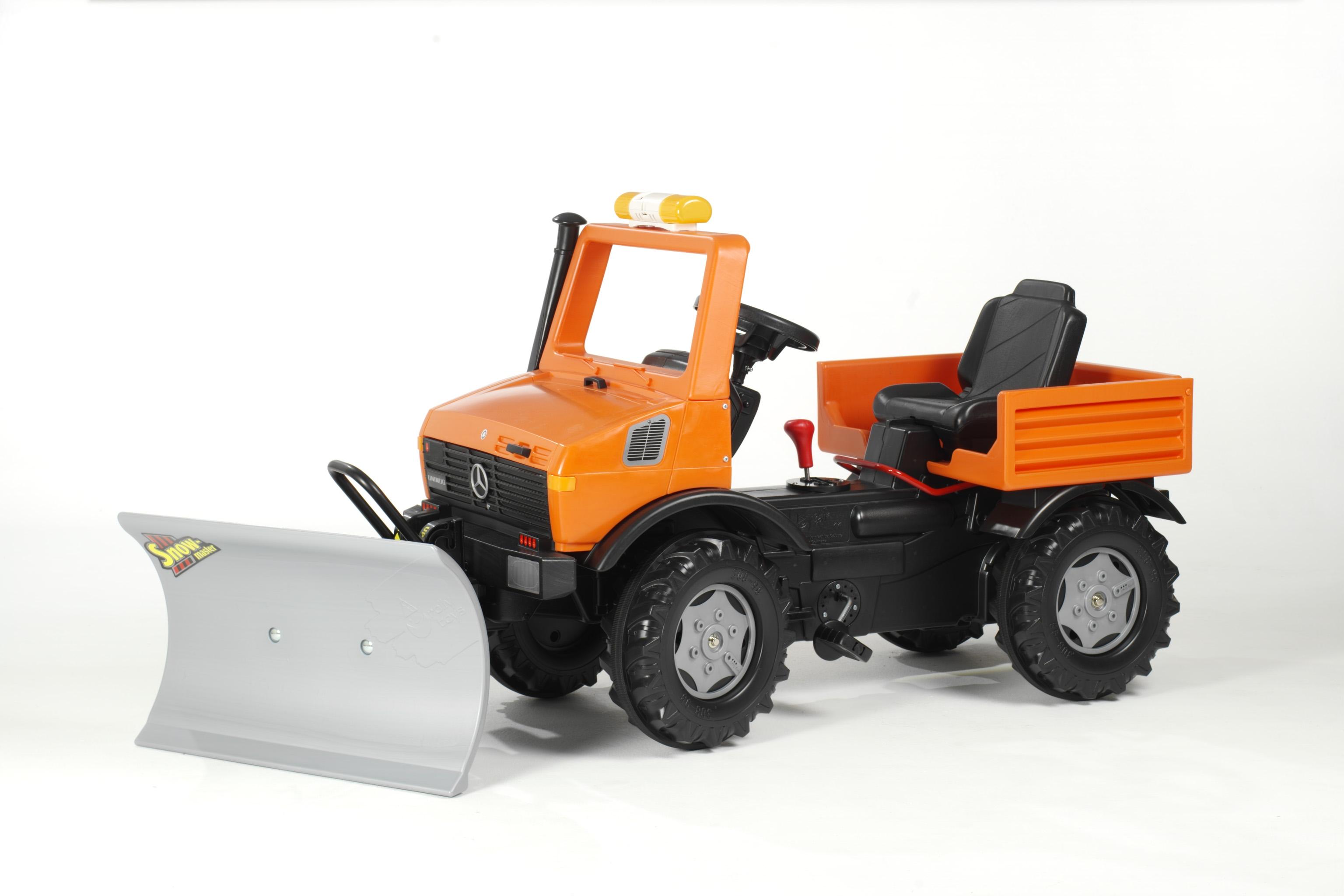 rolly toys unimog orange kommunal mit schneepflug. Black Bedroom Furniture Sets. Home Design Ideas