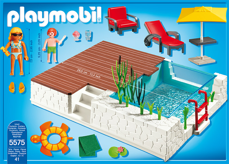 playmobil einbau swimmingpool pool schwimmbad 5575 ebay. Black Bedroom Furniture Sets. Home Design Ideas