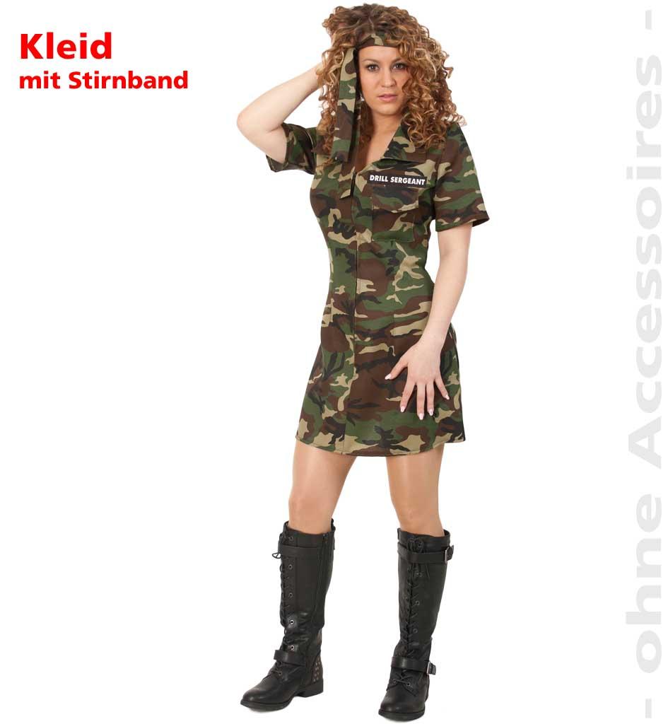 fasching karneval armyfrau soldatin soldaten kost m gr 36. Black Bedroom Furniture Sets. Home Design Ideas