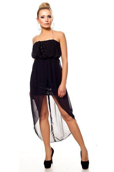chiffon partykleid abendkleid vorne kurz hinten lang. Black Bedroom Furniture Sets. Home Design Ideas