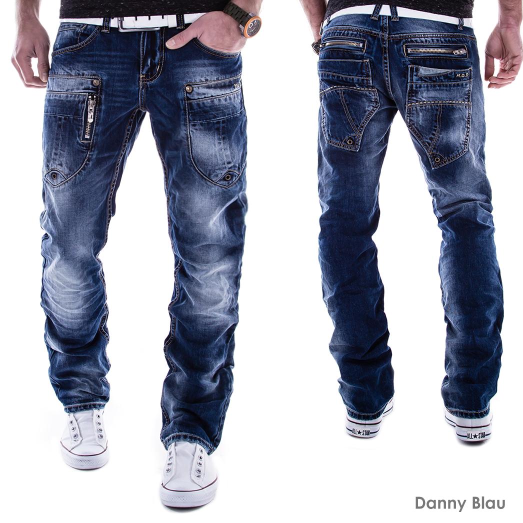m o d mod jeans herren hose denim vintage verwaschen danny cornell blau l32 l34 ebay. Black Bedroom Furniture Sets. Home Design Ideas