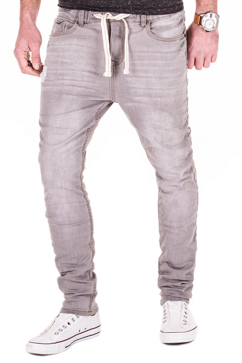 sublevel jogg jeans sweatpants herren hose grau slim fit. Black Bedroom Furniture Sets. Home Design Ideas