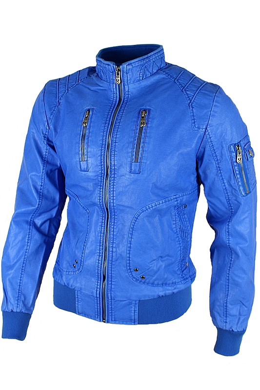 Orange Leder Herrenjacke