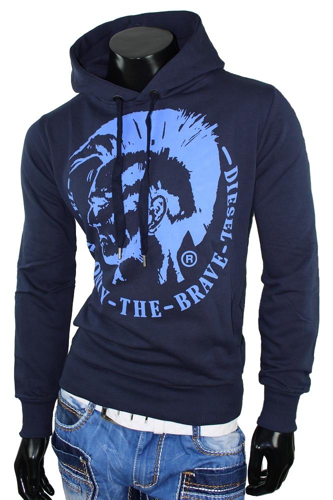 diesel hoodie sweatshirt herren only the brave pullover jacke blau longsleeve ebay. Black Bedroom Furniture Sets. Home Design Ideas