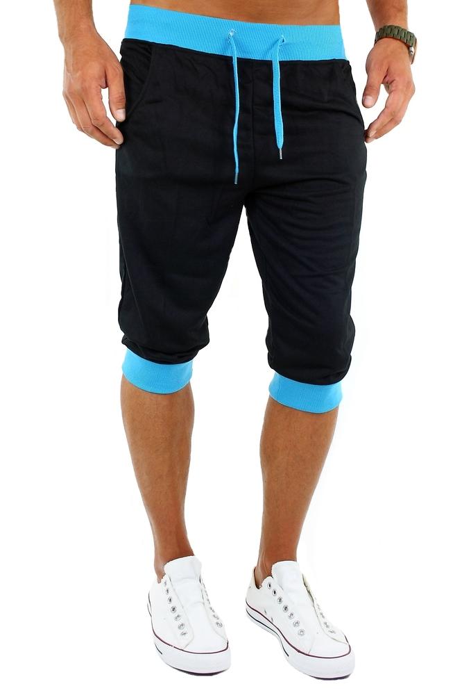 f d herren sporthose capri hose cargo shorts kurze bermuda neon look jogginghose. Black Bedroom Furniture Sets. Home Design Ideas