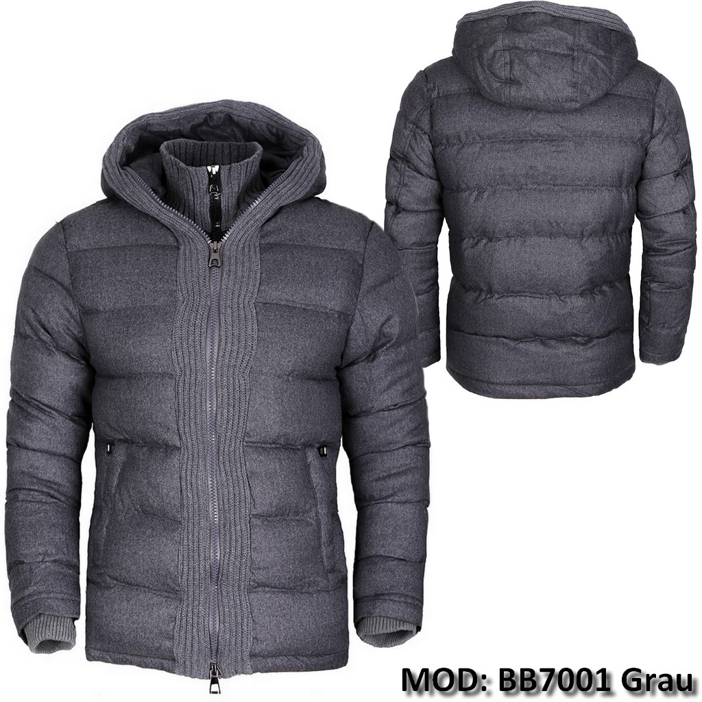 veste homme d 39 hiver doublure chaude manteau parka capuche bomber noir neuf ebay. Black Bedroom Furniture Sets. Home Design Ideas