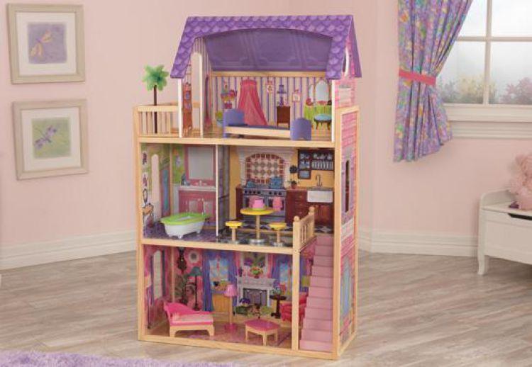 kidkraft puppenhaus kayla aus holz puppenstube dollhouse. Black Bedroom Furniture Sets. Home Design Ideas
