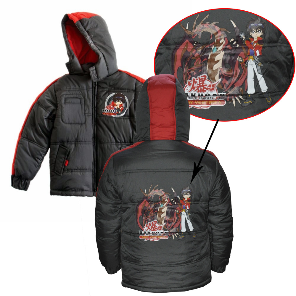 bakugan winterjacke jacke f r jungen mit coolem motiv. Black Bedroom Furniture Sets. Home Design Ideas