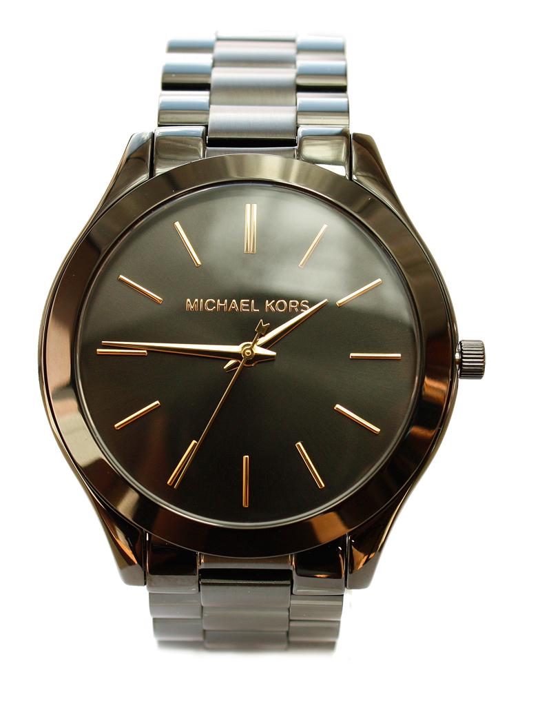 michael kors uhr damenuhr armbanduhr edelstahl schwarz mk3221 neu ebay. Black Bedroom Furniture Sets. Home Design Ideas