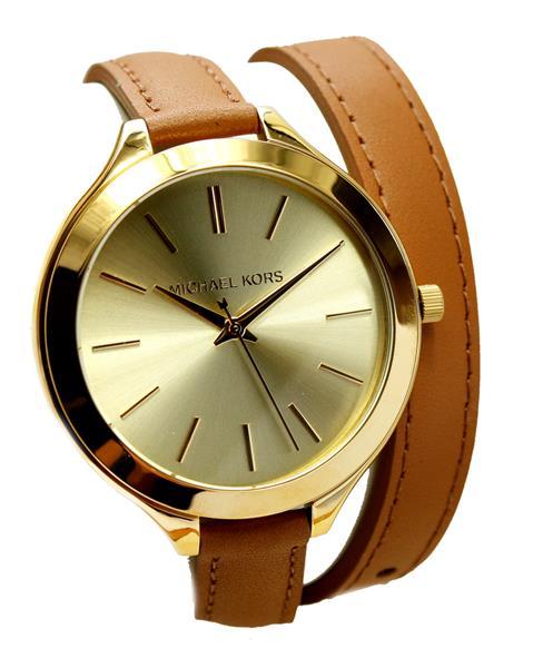 michael kors uhr damenuhr armbanduhr leder gold mk2256 neu. Black Bedroom Furniture Sets. Home Design Ideas