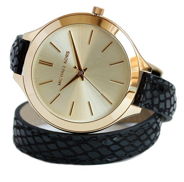 michael kors uhr damenuhr armbanduhr leder gold mk2315 neu. Black Bedroom Furniture Sets. Home Design Ideas