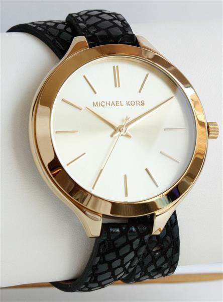 michael kors uhr damenuhr armbanduhr leder gold mk2315 neu ebay. Black Bedroom Furniture Sets. Home Design Ideas