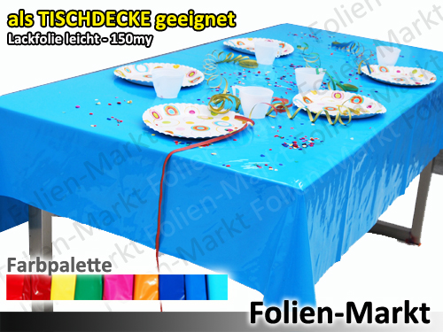 lackfolie lack folie 150my gelb 30x1 3 m auf rolle tischdecke biertisch ebay. Black Bedroom Furniture Sets. Home Design Ideas