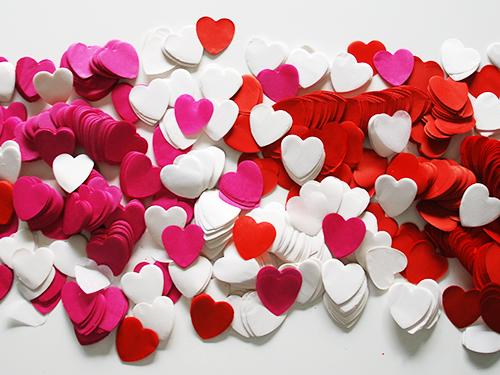 herz konfetti fx 40mm pink 1kg slowfall hochzeit deko ebay. Black Bedroom Furniture Sets. Home Design Ideas