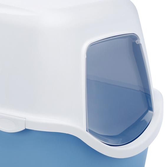haubentoilette katzentoilette katzenklo toilette mit haube 39 cathy 39 blau ebay. Black Bedroom Furniture Sets. Home Design Ideas