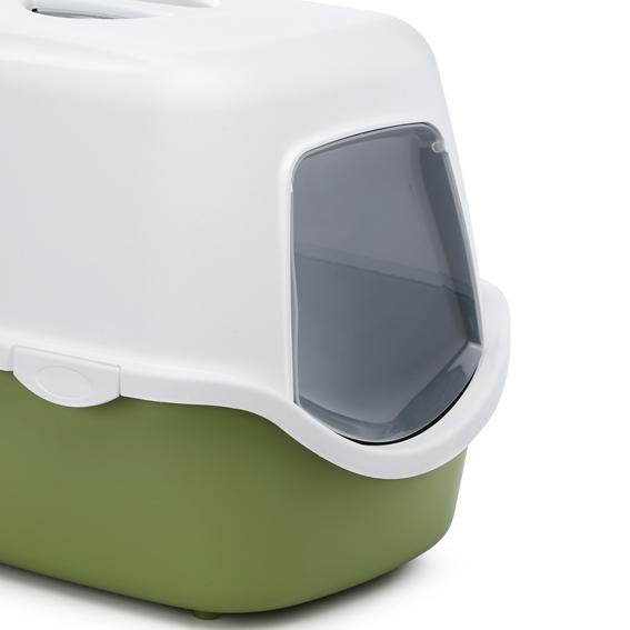 haubentoilette katzentoilette katzenklo toilette mit haube 39 cathy 39 gr n ebay. Black Bedroom Furniture Sets. Home Design Ideas
