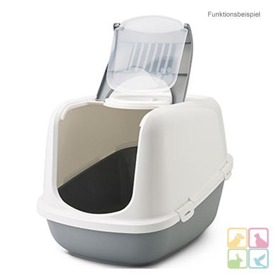 katzentoilette haubentoilette katzenklo mit haube 39 clean cat jumbo xxl 39 grau ebay. Black Bedroom Furniture Sets. Home Design Ideas