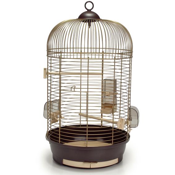 vogelk fig voliere vogelbauer rund pass st nder 39 julia jim 39 gold braun ebay. Black Bedroom Furniture Sets. Home Design Ideas