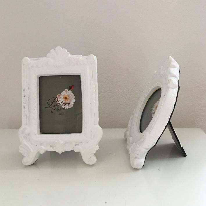 fotorahmen barock mini wei bilderrahmen shabby vintage nostalgie landhaus ebay. Black Bedroom Furniture Sets. Home Design Ideas