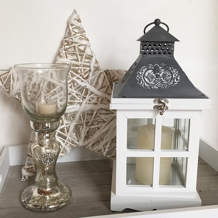 windlicht loire wei laterne metalldach holz shabby vintage nostalgie landhaus ebay. Black Bedroom Furniture Sets. Home Design Ideas