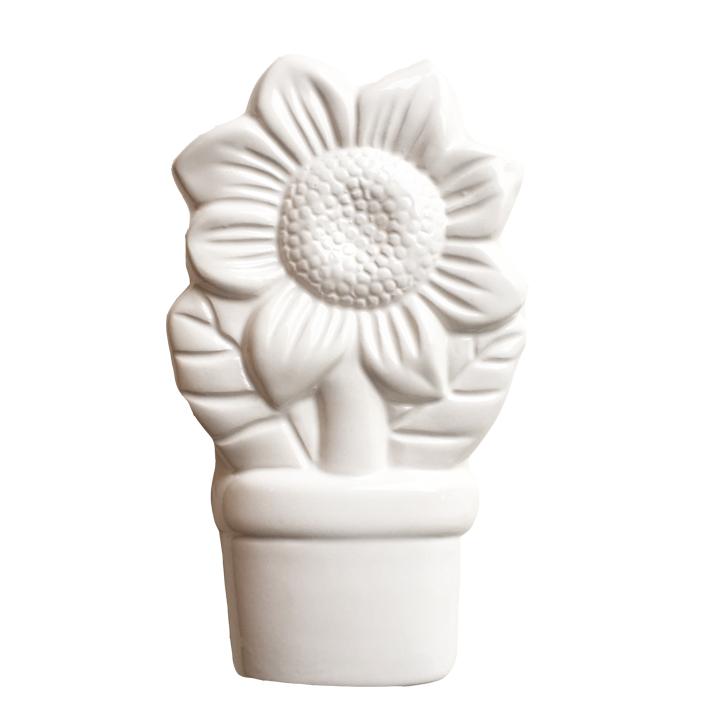 keramik luftbefeuchter sunflower wei blume heizk rper. Black Bedroom Furniture Sets. Home Design Ideas