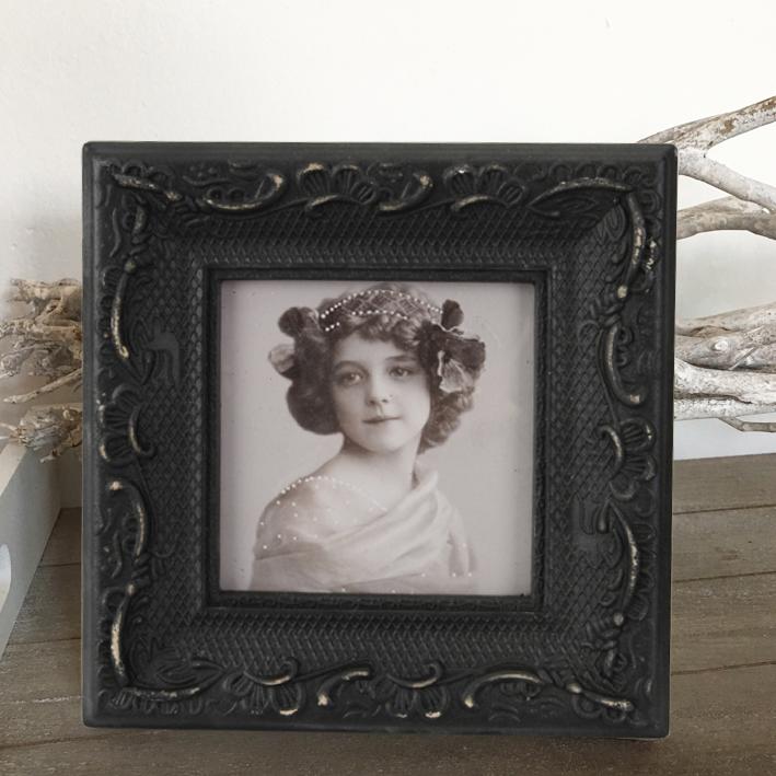 bilderrahmen ranke ornament schwarz shabby vintage nostalgie landhaus retro ebay. Black Bedroom Furniture Sets. Home Design Ideas