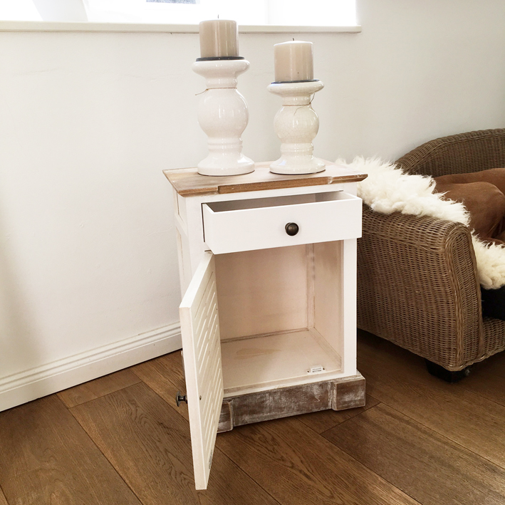 kommode countrystyle natur wei schr nkchen landhaus shabby ebay. Black Bedroom Furniture Sets. Home Design Ideas