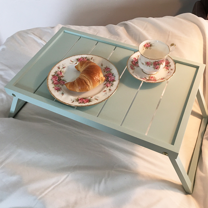 fr hst ckstablett morning mint bett tablett serviertablett holz tablett klappbar ebay. Black Bedroom Furniture Sets. Home Design Ideas