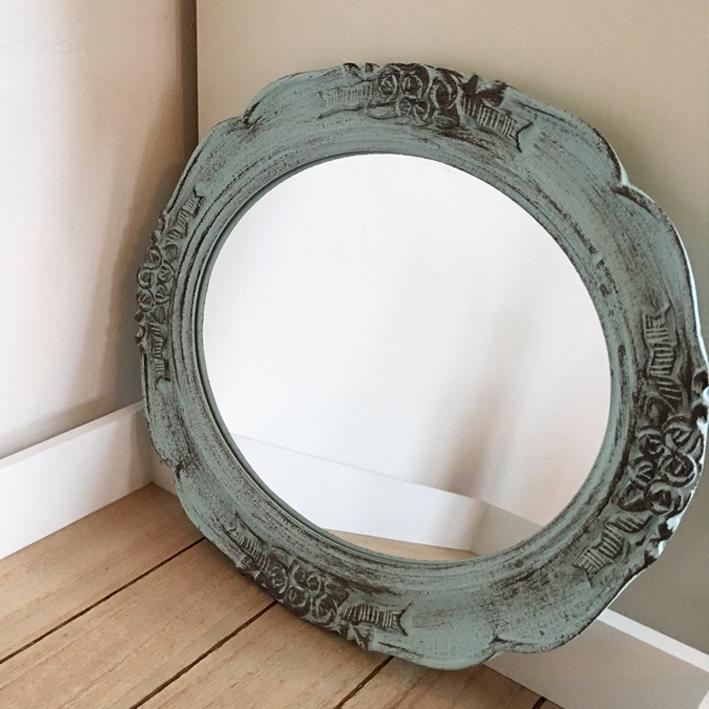 wandspiegel roses 30 x 25 antikgr n deko spiegel shabby vintage landhaus ebay. Black Bedroom Furniture Sets. Home Design Ideas