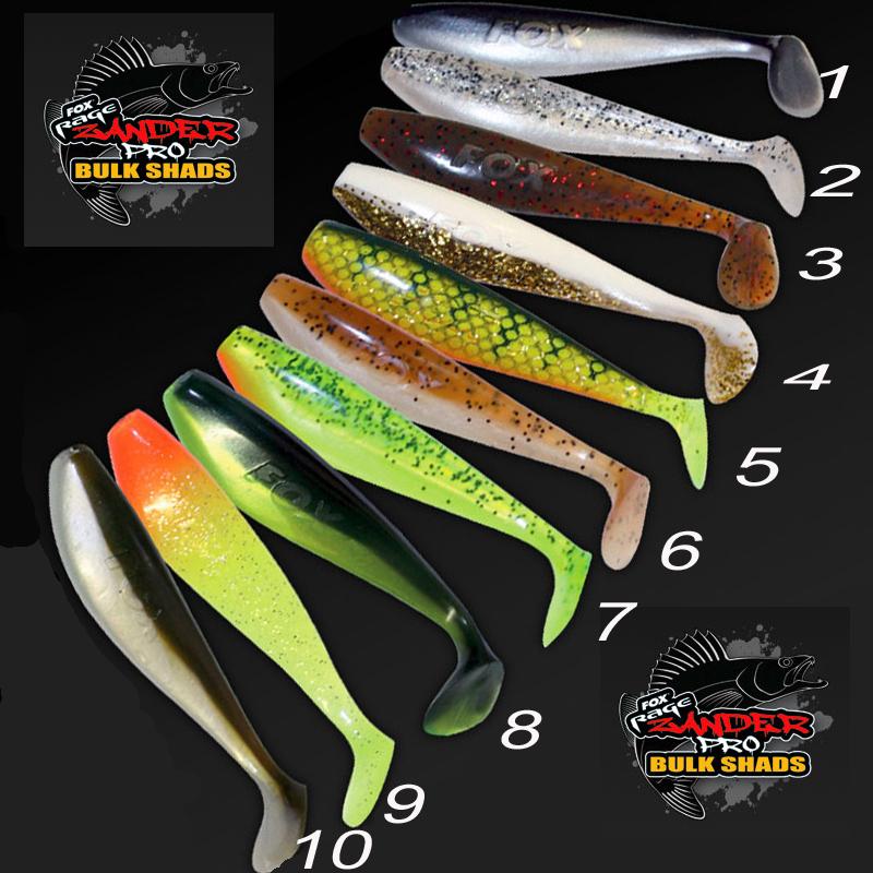 Fox-Rage-Zander-Shad-10cm-Gummifisch-alle-Farben-Pro-Shop
