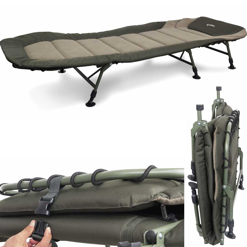 fox warrior bedchair 6 bein liege carp shop cbc052 ebay. Black Bedroom Furniture Sets. Home Design Ideas