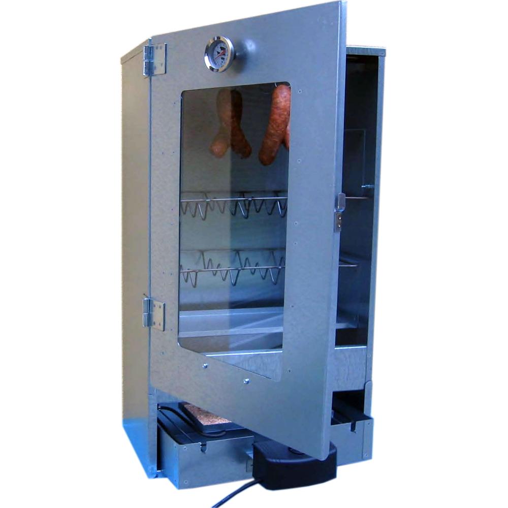 multi r ucherofen edelstahl e heizung thermometer mehl r ucherschrank ebay. Black Bedroom Furniture Sets. Home Design Ideas