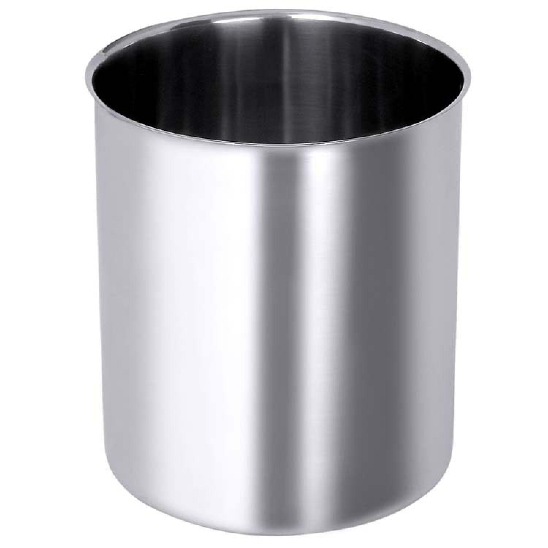 Edelstahlbehälter, rund / Wasserbadkasserolle ohne Griffe, aus ...