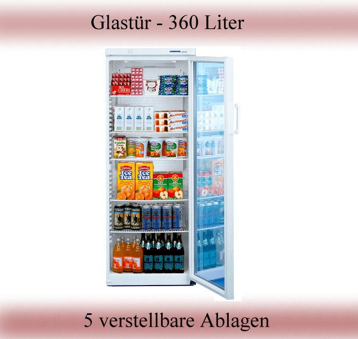 Liebherr Glastür Flaschenkühlschrank Kühlschrank FKS 3602  -> Kühlschrank Glastür