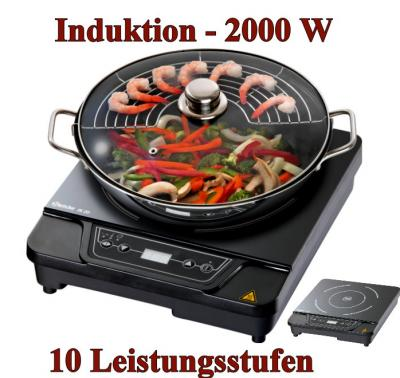 bartscher induktionskocher wok set ik 20 2 kw induktion kocher platte wok ebay. Black Bedroom Furniture Sets. Home Design Ideas