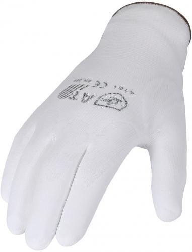 Feinstrickhandschuh-Nylon-PU-Beschichtet-Montagehandschuh-Werkstatt-Handschuh