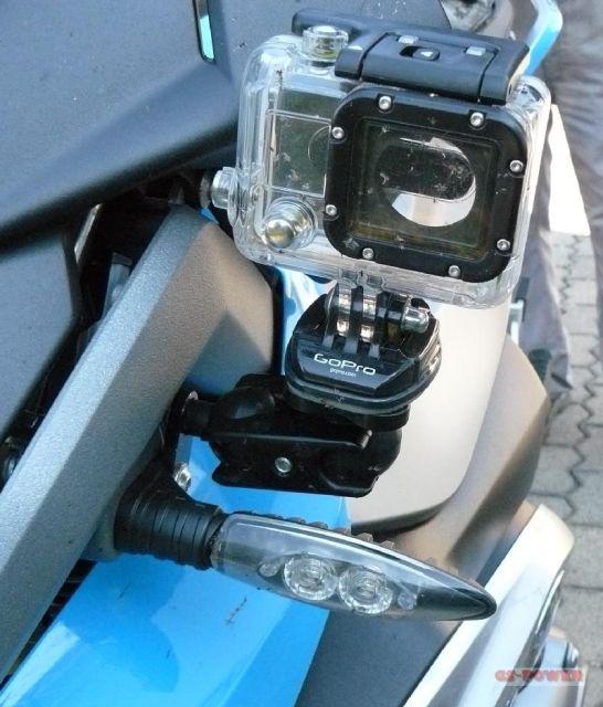 blinkerhalter halter zur befestigung einer kamera gopro. Black Bedroom Furniture Sets. Home Design Ideas