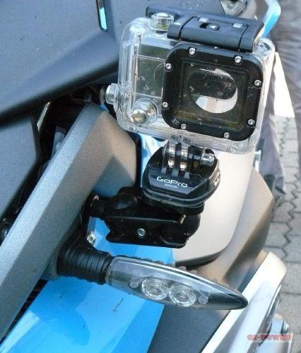 motorrad blinkerhalter zur befestigung einer kamera. Black Bedroom Furniture Sets. Home Design Ideas
