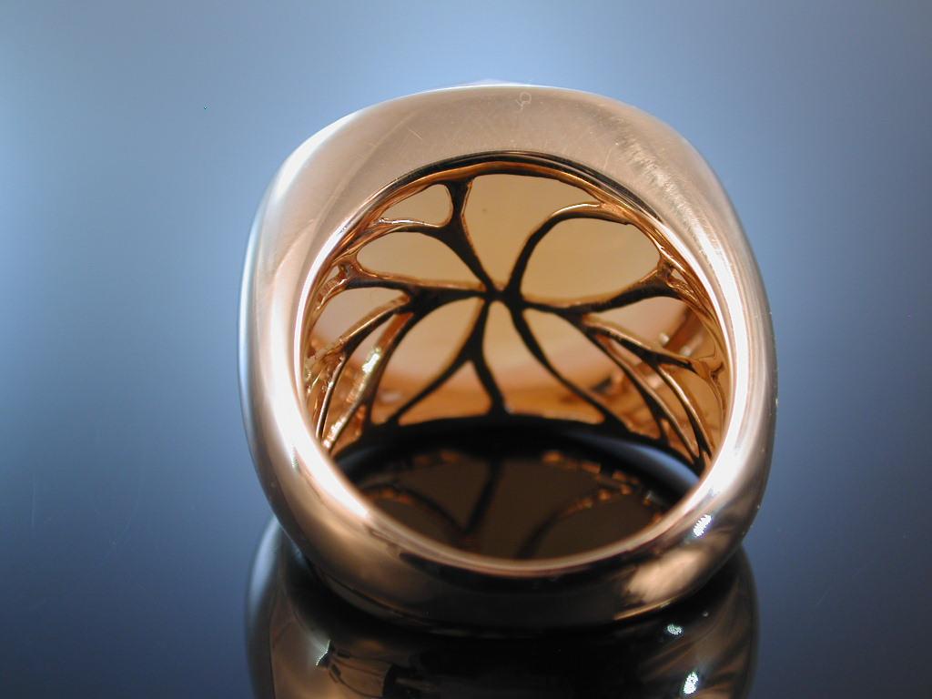 Goldring mit mondstein  MASSIVER GROSSER RING ROSÉ GOLD 750 MONDSTEIN 25,2 CT GOLDRING ...