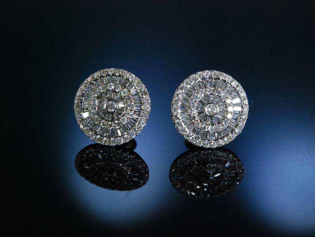 grosse ohrstecker baguette diamanten brillanten zus 1 16 ct gold 750 ohrringe ebay. Black Bedroom Furniture Sets. Home Design Ideas