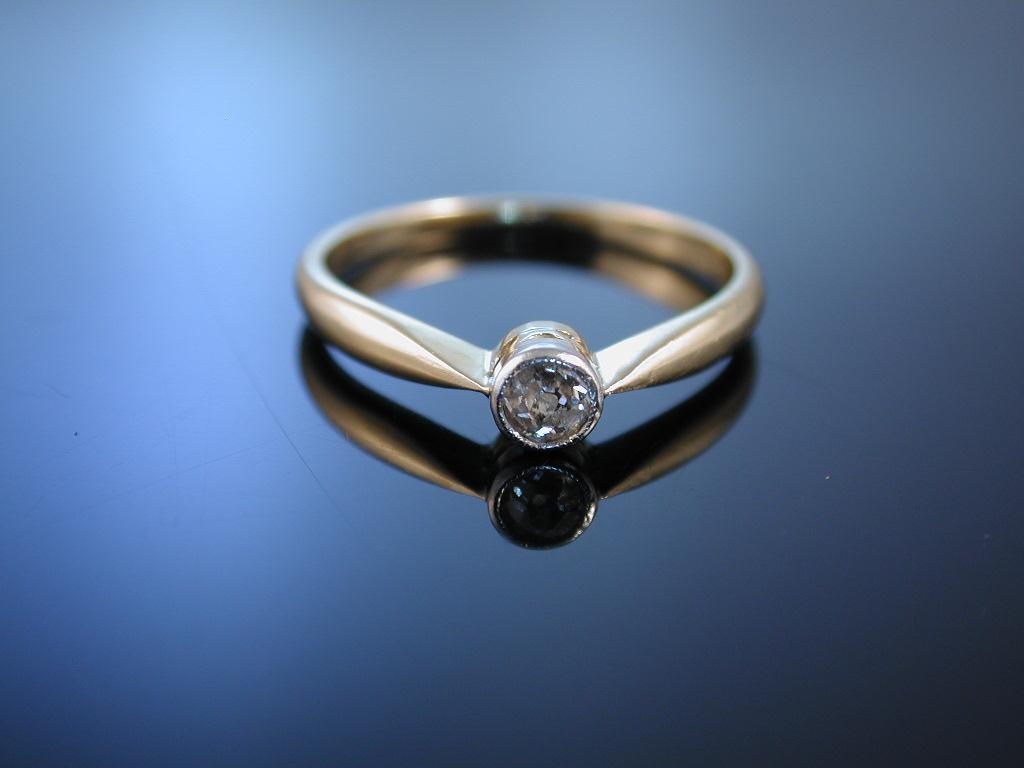say yes verlobungsring solit r ring gold 585 diamant. Black Bedroom Furniture Sets. Home Design Ideas