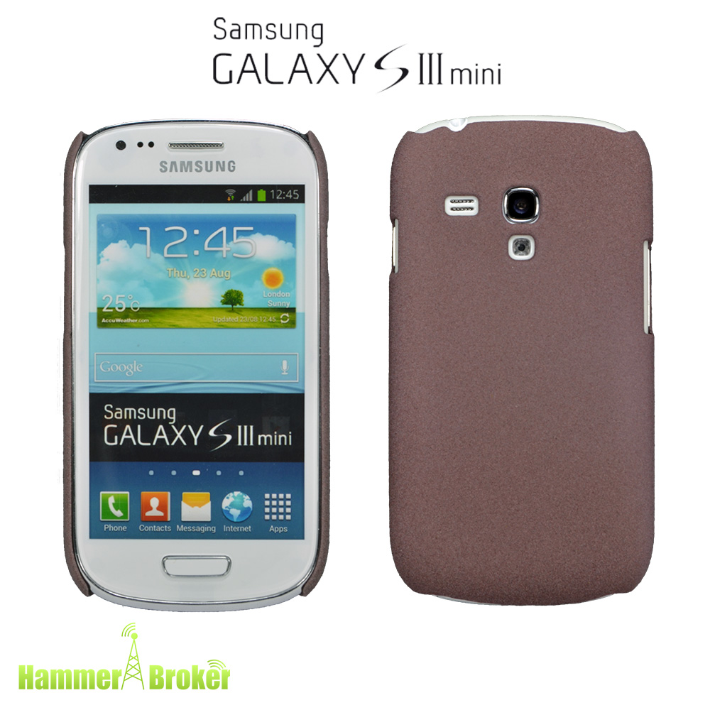 samsung galaxy s3 mini i8190 hard cover braun schutz h lle case cover bumper ebay. Black Bedroom Furniture Sets. Home Design Ideas