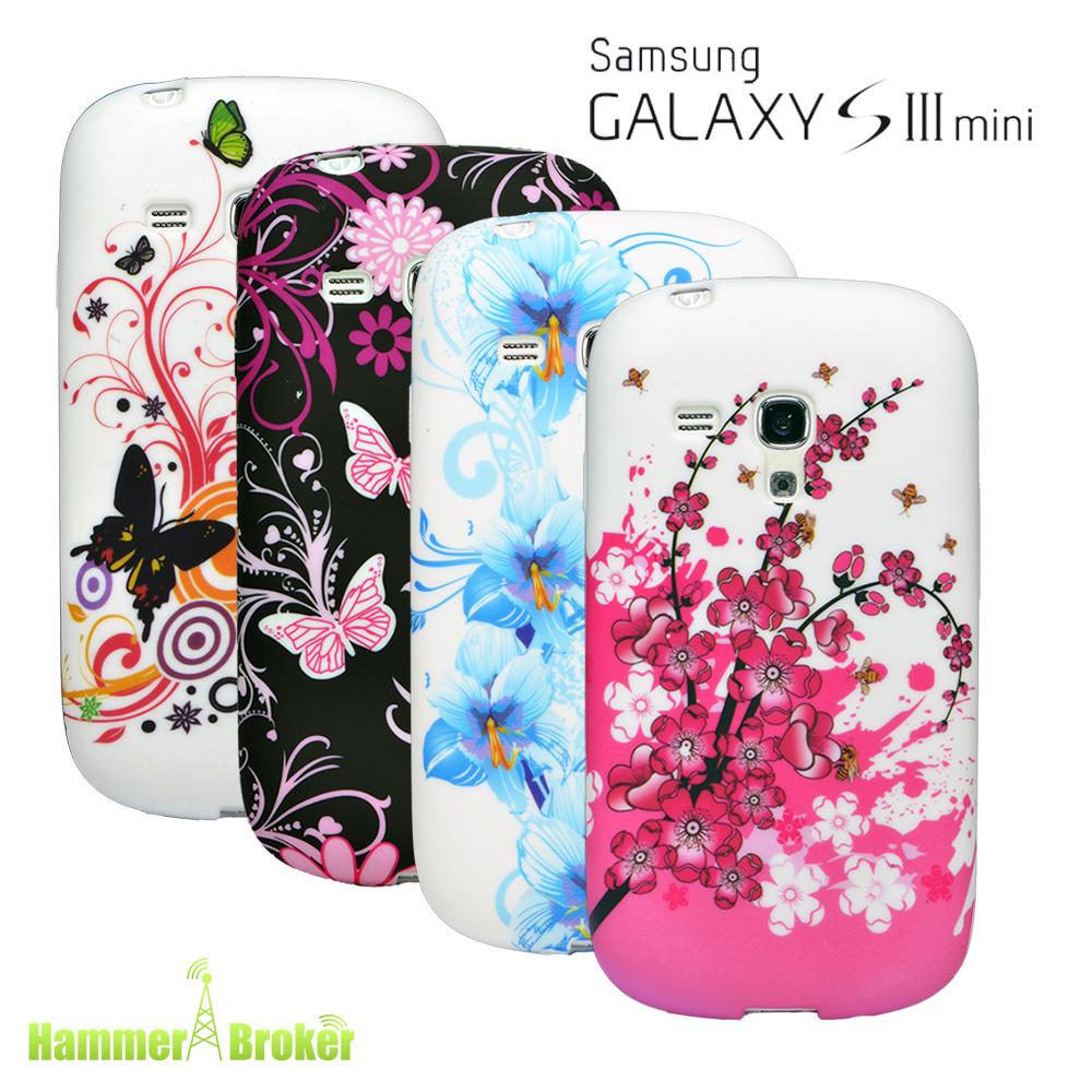 4x set samsung galaxy s3 mini i8190 silikon schutz handy. Black Bedroom Furniture Sets. Home Design Ideas
