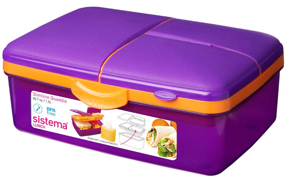 sistema lunchbox quaddie mit 4 f chern und trinkflasche 1 5l versandkostenfrei ebay. Black Bedroom Furniture Sets. Home Design Ideas